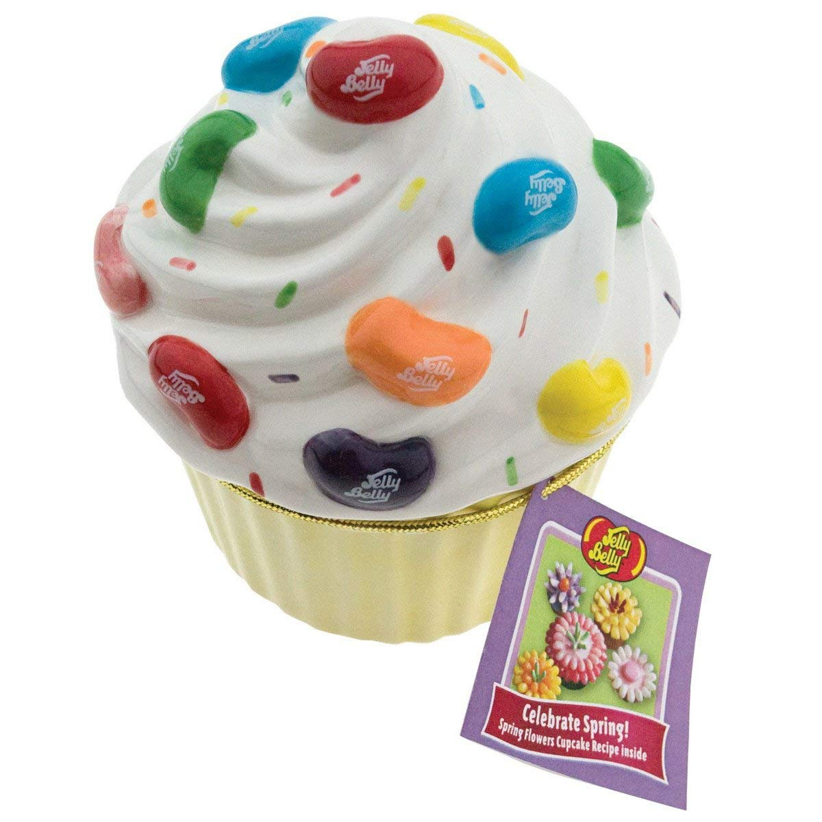 Ceramic Cupcake Candy Dish with Jelly Belly 20 Flavors Mix jelly beans