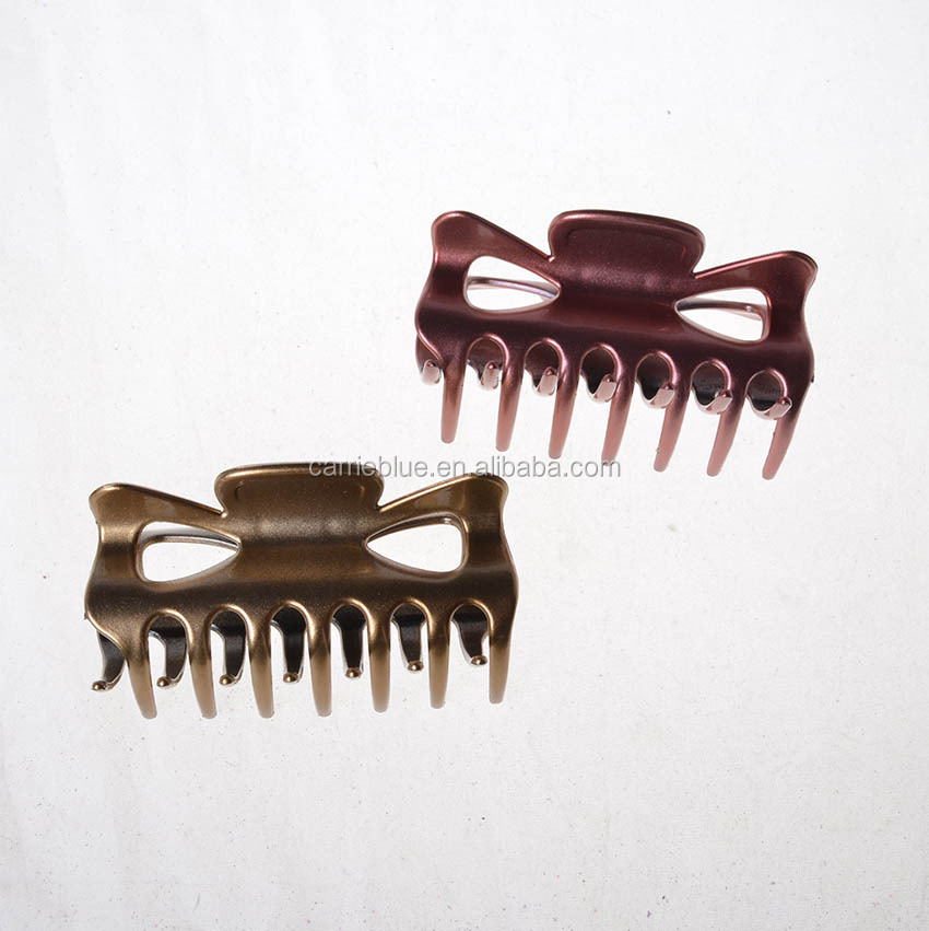 Fashionable clear plastic cellulose acetate claws jaw hair clips