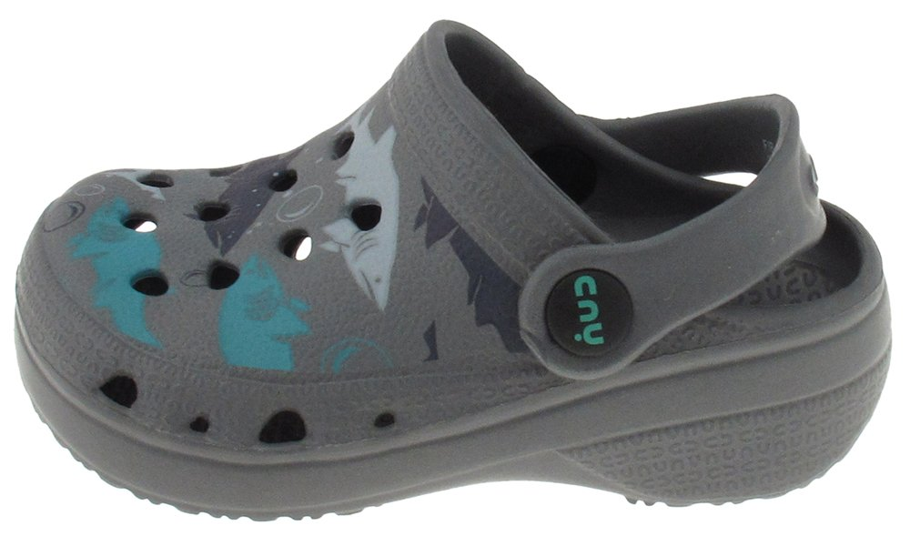 Capelli New York Toddler Boys Shark bait printed injected EVA clog with backstrap