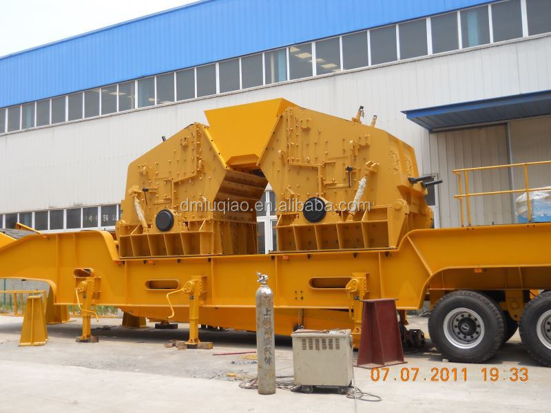 DMC iron ore mobile crushing plant certified by CE ISO9001:2008 GOST