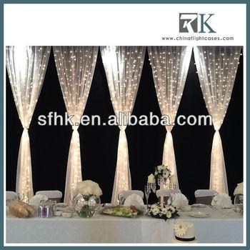 Fairy Light Curtain Head Table Backdrop - Buy Table Backdrop,Curtain ...