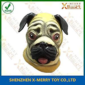 2015 x merry deluxe pug mask dog lover pooch halloween costume latex adult gag