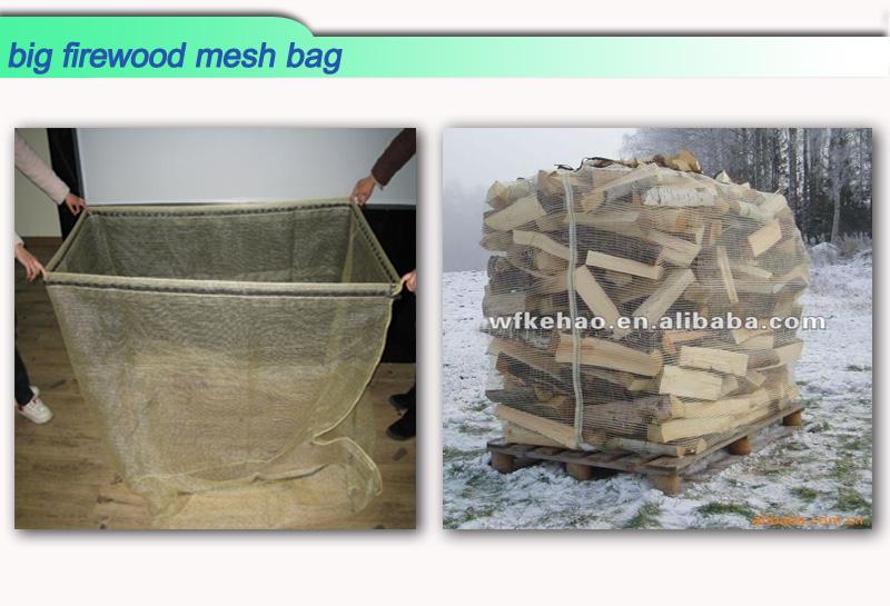 big firewood mesh  bag