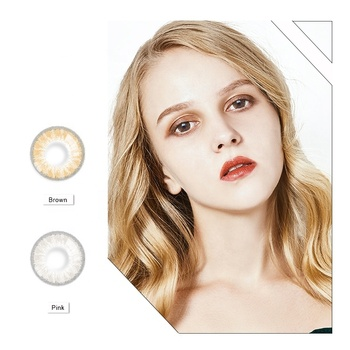 Realcon  High Quality Cosmetic Colored Contact Lens Soft Cheap Glass Ball Contact Lenses For Big Eyes