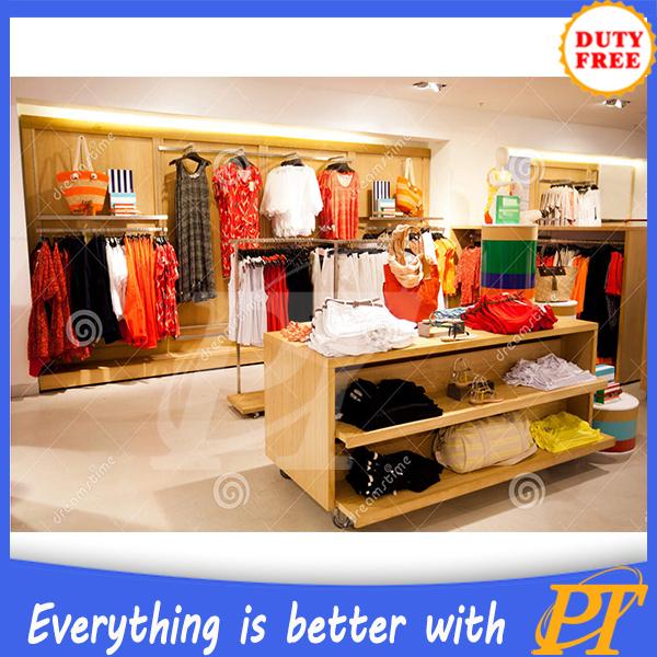 Customized Clothing Display Showroom Design Women Clothing Shop ...