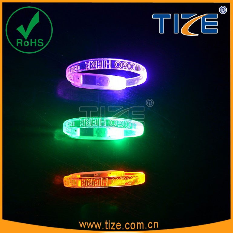 led voice controlled led writsband party favors toys party gifts