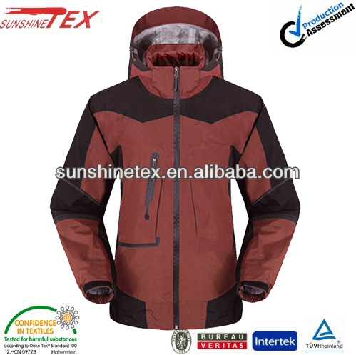 2015 sports jacket working color garmets for men with hood