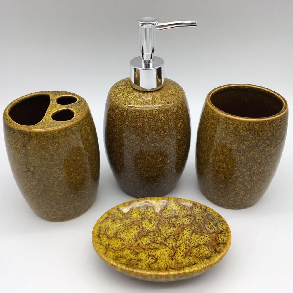 Peachy Walmart Audit Art Glaze Stoneware Bath Set Earthenware Bathroom Accessory Sets Buy Walmart Audit Porcelain Bathroom Accessories Art Glaze Bath Set Interior Design Ideas Gentotthenellocom