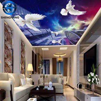 Luxury 3d Wallpaper For Ceiling Wall Decor Hotel Home Sitting Room Ceiling Wallpaper Non Woven Wallpaper Buy 3d Wallpaper Luxury Non Woven