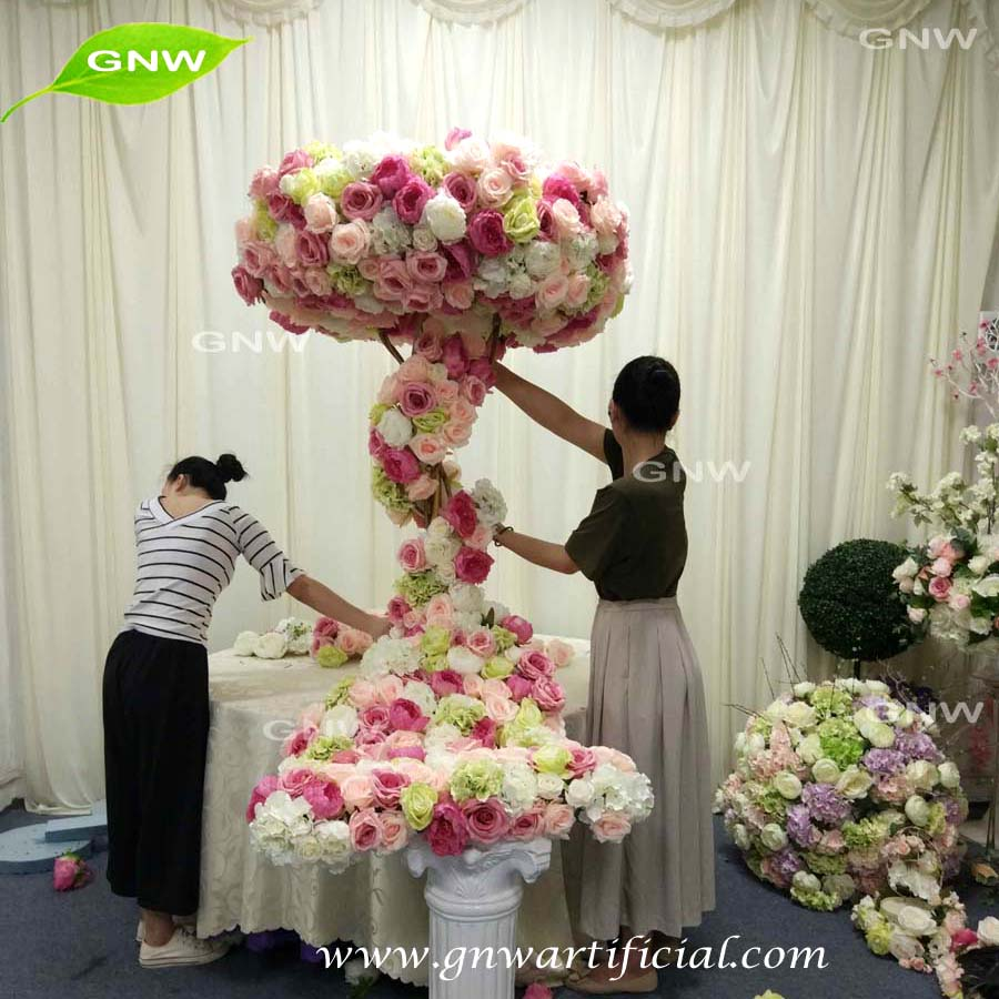 Gnw Flwa1707007 2 India Cheap Pink And White Flower Arch For Wedding