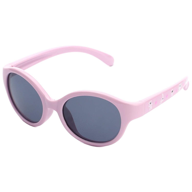 modesoda Kids Polarized Sunglasses UV400 Protection Round Frame for Girls and Boys Children Age 3-12