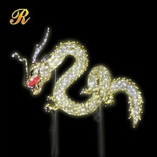 Vivid led dragon light up animal light status for holiday decoration