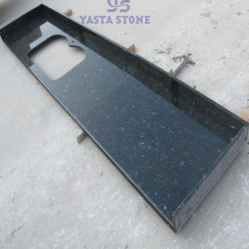 U form Bullnose Kanten Schwarz Galaxy Granit Küche Arbeitsplatte