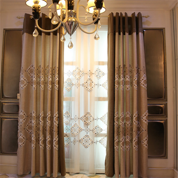 Royal Indian Lace Embroidery Fabric Valance Curtains For The Living Room