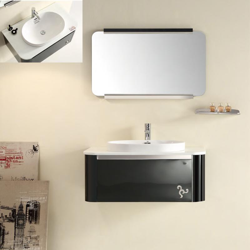Wunderbar Nickel Gebürstet Eingerahmt Badezimmerspiegel ...