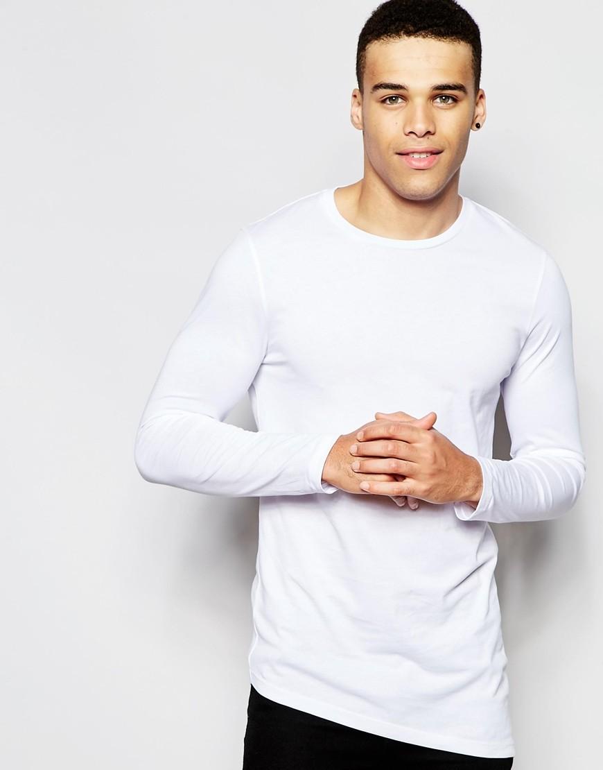 Men's White Irregular Long Line T Shirt Men Manufacturing