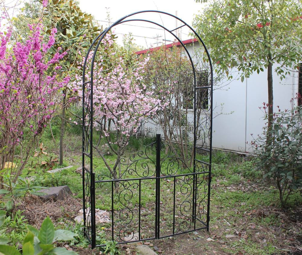 Metal garden arch climbing plants and rose furniture - Garden arch climbing plants ...