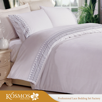 KOSMOS Bedding Polycotton Embroidery Lace Bedsheets Pakistan