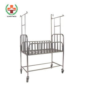 SY-R036 Movable Hospital Medical Instrument stainless steel S.S Baby Bed