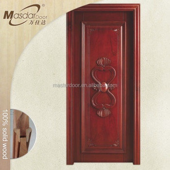 Simple teak wood single main door designs for indian homes for Single door design for home