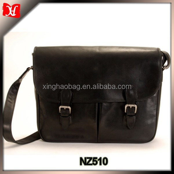 Italian Leather Black Man Bags Messenger Bag Briefcase Computer ...