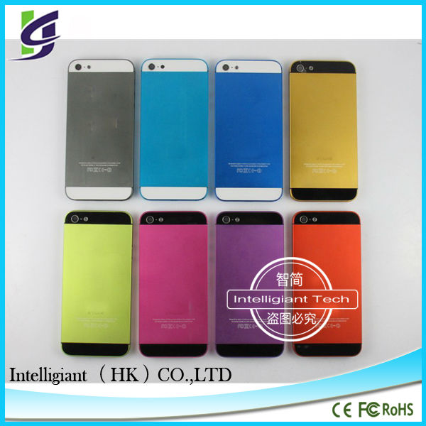 for iPhone5 colored back housing,pink,gold,yellow,green,red factory directly