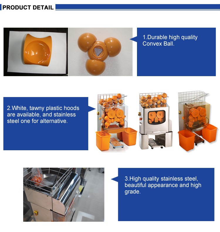 Furnotel Wholesale Commercial Automatic Orange Juicer Machine with Cabinet - 25 Oranges/min