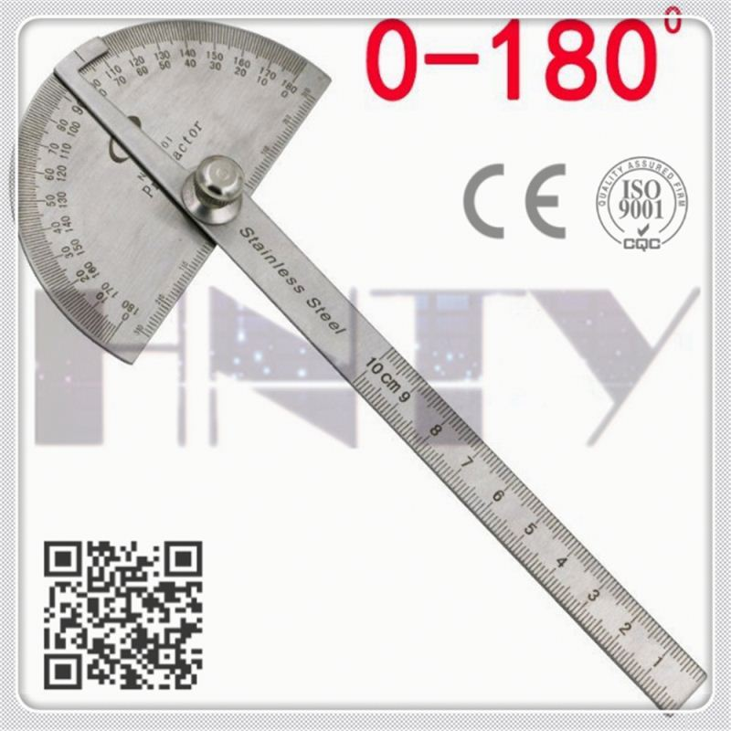 Good quality with high resolution stainless steel protractor