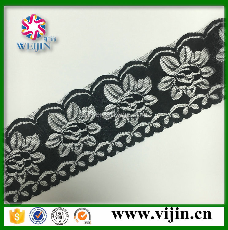 warp knitted type narrow laces for lingerie underwear accesories