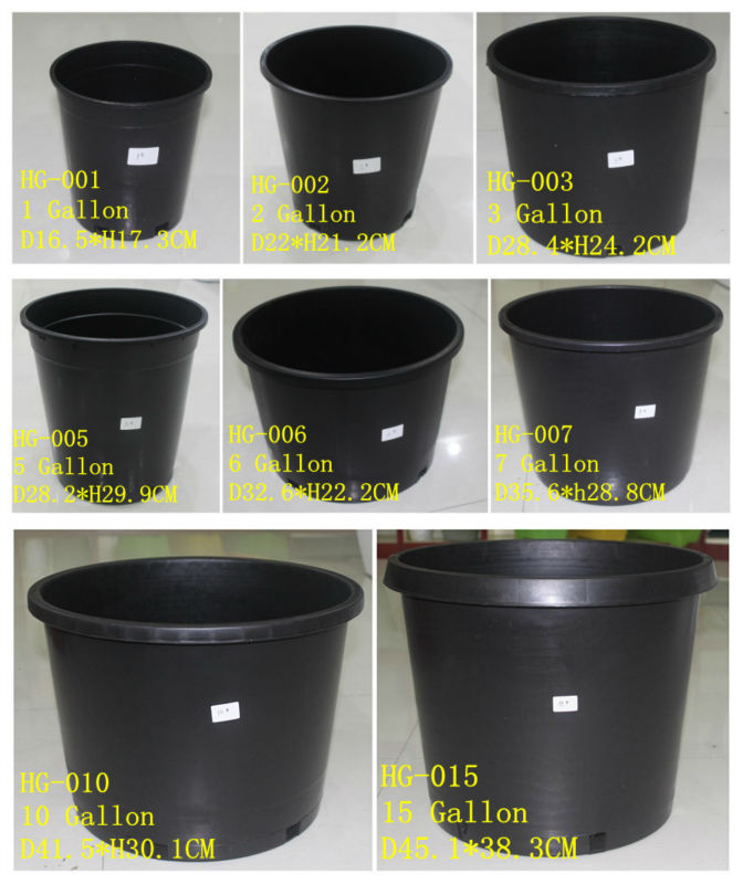 15 Gallon Black Nursery Flower Pot