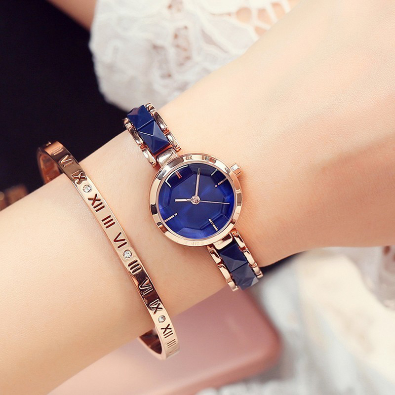 Women Fashion 2018 Luxury Brand Quartz Wristwatch Ladies Bracelet Watch Set Women for Watch