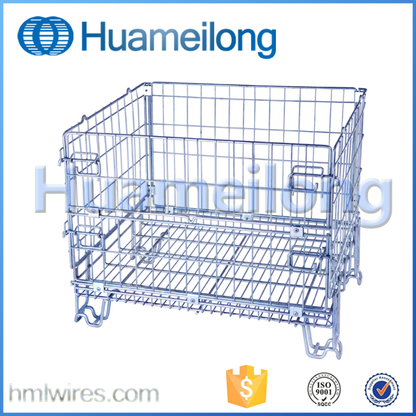 Collapsible professional steel galvanized metal gabion wire mesh storage cages