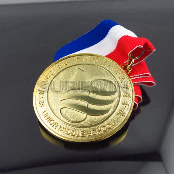 Custom Medals 24k Gold Running Marathon Sport Metal Medal Medal ...
