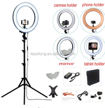 55w 240 Led Ring Light Kit Rl-18 Camera Photo/studio/phone/video 5500k Photography Dimmable Ring Lamp With Tripod Stand