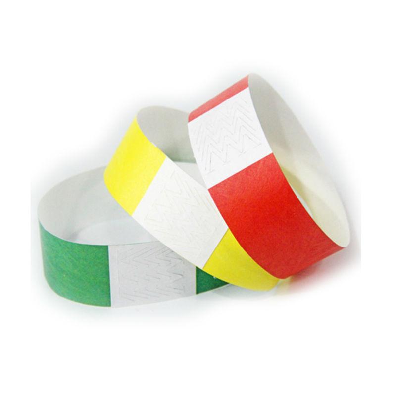custom paper wristbands cheap