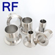 RF Sanitary Stainless Steel Tri Clamp Pipe Ferrule With Male Thread