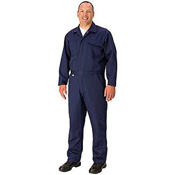 """TOPPS SAFETY CO11-3905-Tall/58 Indura Economy Overall, 9 oz., 58"""", Tall, Navy Blue"""