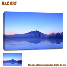 Mount Fuji Lake Landscape Pictures Painting Canvas Printing Machine Price for Sale