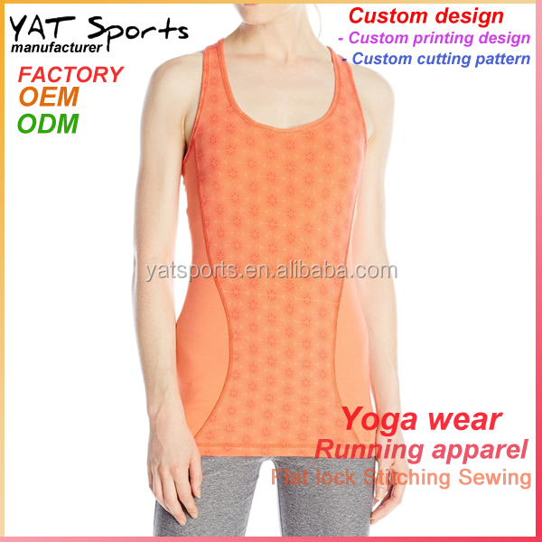 Custom design cotton spandex fabric gym apparel women sport yoga tank top