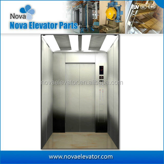 Elevator Car with Mirror and etching Material, Elevator Hot Sale Cabin