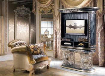 Kast Metalen Frame.Antieke Tv Kast Met Zwart En Zilver Metalen Frame En Decoratie Neo
