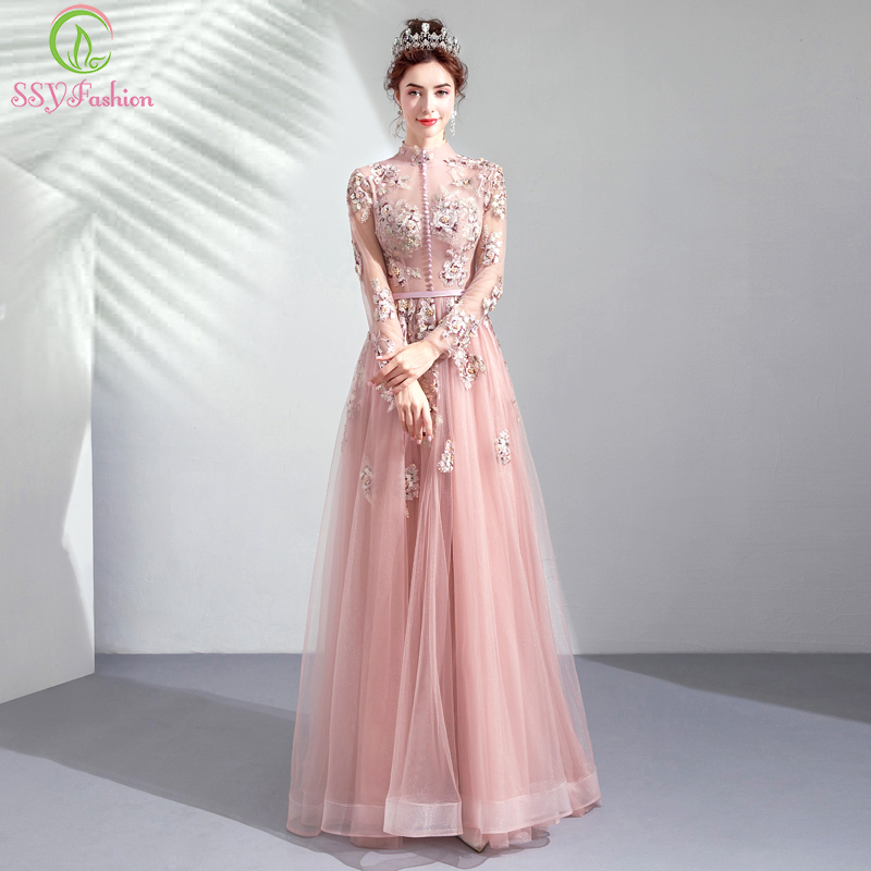 Detail Feedback Questions about SSYFashion New Pink Evening Dress ... 0f5d36c04