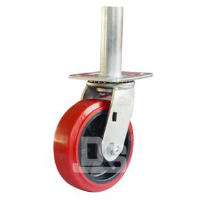 DS40 Scaffold Hand Trolley Swivel Welded Pipe Stem PVC Plastic Caster Wheels