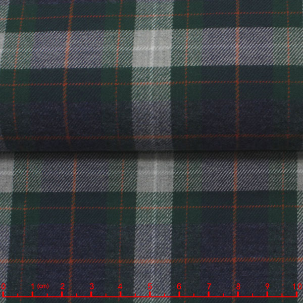 leftover stock twill plaid cotton fabric