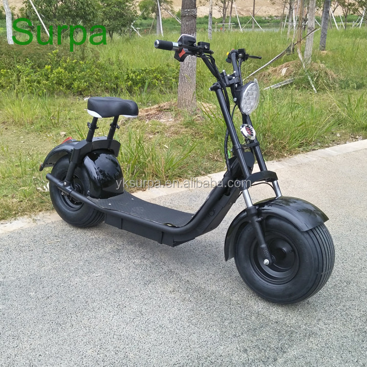 citycoco style popular factory selling 2 wheel electric scooter/electric motorcycle battery pack 1500w 1000w 60v