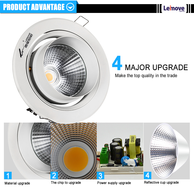 china popular down light 40w track light fixture