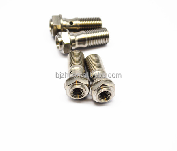 Ti6al4v m10*1 high quality titanium banjo bolt for motorcycle oil pipe
