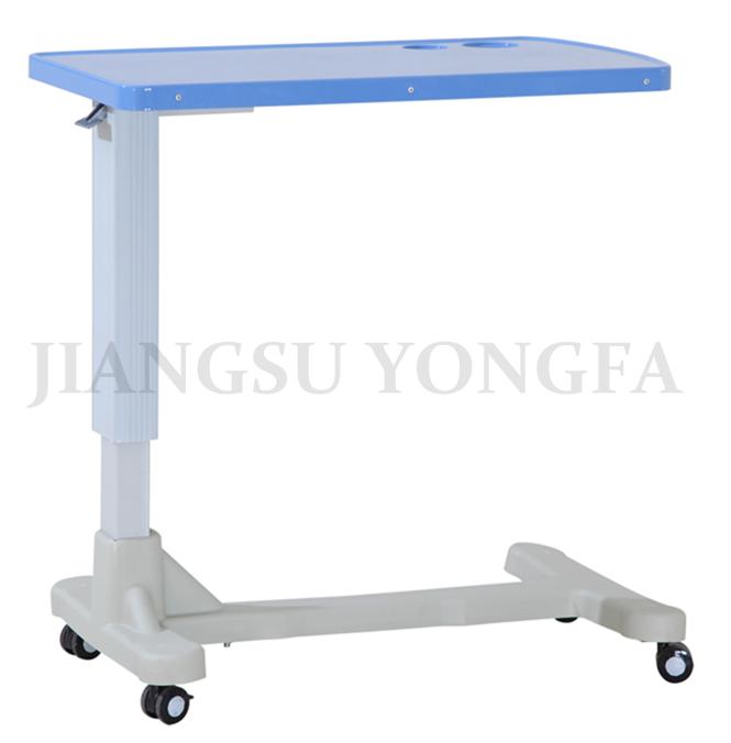 YFT 001 Height Adjustable Movable Tray Table Hospital Food Table