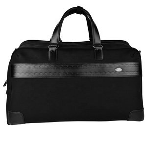 Fashion large capacity anti-theft business style nylon custom logo duffel sports gym travel bag for men