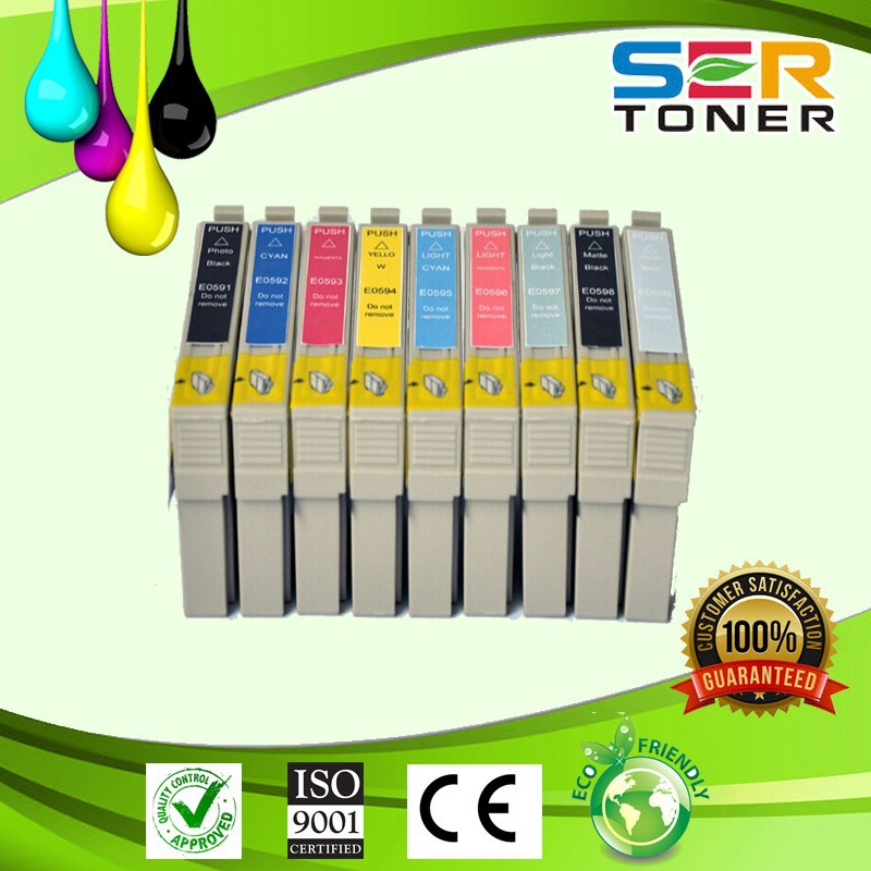 Quality Ink Cartridge T0591 - T0599, for Espon printer Stylus Photo R2400